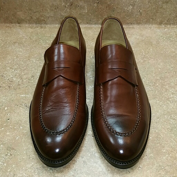 e54363e5c56 Peter Millar Brown Penny Loafer Shoes Size 10.5. M 5bfc9efcaaa5b8b1a667aa65
